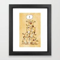 Shout It Out! Framed Art Print