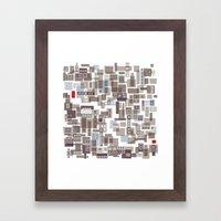 mapping home 4 Framed Art Print