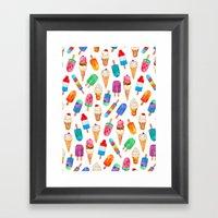 Summer Pops and Ice Cream Dreams Framed Art Print
