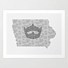 Iowa Miss America Art Print