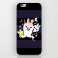 naughty halloween bunny ghost iPhone & iPod Skin