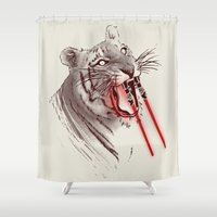 Light Saber Tooth Tiger Shower Curtain