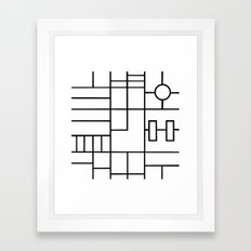 PS Grid Framed Art Print