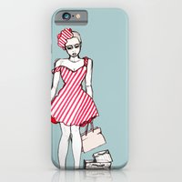 iPhone & iPod Case featuring Frazzled Shopper by Jessica Tobin