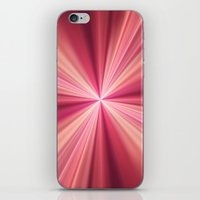 Pink Rays Abstract Fract… iPhone & iPod Skin
