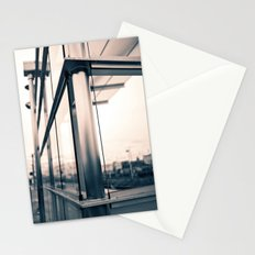Urban train stop Stationery Cards