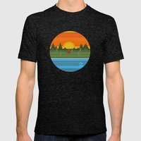 Camping Mens Fitted Tee Tri-Black SMALL