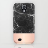 Black Marble And Pink  Galaxy S4 Slim Case