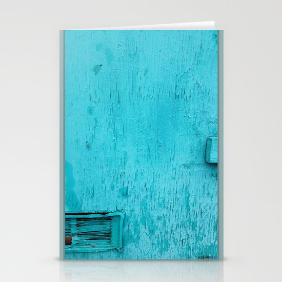 Turquoise  Stationery Card