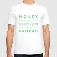Prozac Nation Mens Fitted Tee White SMALL