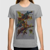 Fantasy 1 Womens Fitted Tee Athletic Grey SMALL