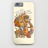 iPhone Cases featuring Circusbot by Nick Volkert