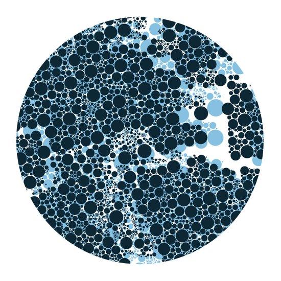 Blue Circles. Art Print