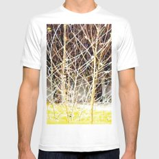 Nature finds the way inside... and outside... Everywhere! SMALL White Mens Fitted Tee