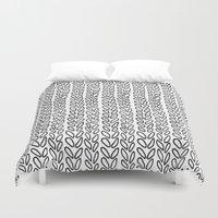 Knit Outline Zoom Duvet Cover