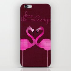 Love is the message iPhone & iPod Skin
