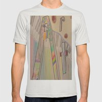 Art Mens Fitted Tee Silver SMALL