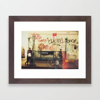 The Formerly Mean Streets of Williamsburg Framed Art Print