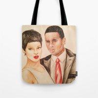 Rihanna - Chris Brown - … Tote Bag