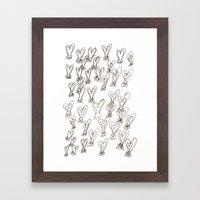 Ugly Heart Framed Art Print