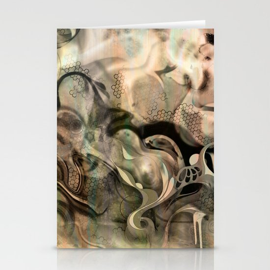 Fluidity Noir Stationery Card