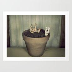 Zombie Plant Art Print