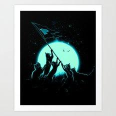 Freedom Cats Art Print