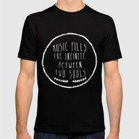 I. Music fills the infinite Mens Fitted Tee Black SMALL