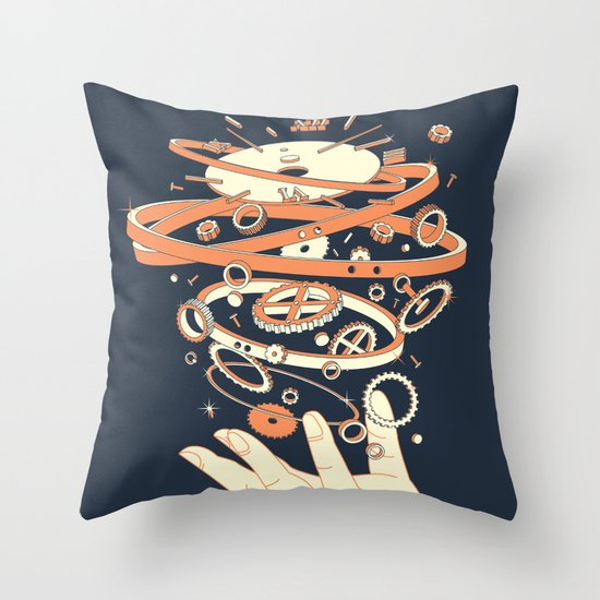 time controller Throw Pillow
