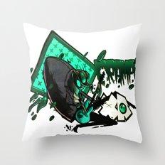 HUMAN FLY 2 Throw Pillow