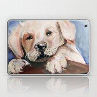 Puppy Touchdown Laptop & iPad Skin