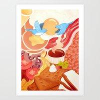 Ode To Breakfast Art Print