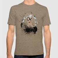 The Black Kitty Mens Fitted Tee Tri-Coffee SMALL