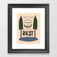 12/52: Matthew 11:28 Framed Art Print