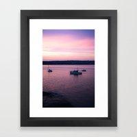 Dusk in the Harbour. Framed Art Print