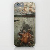 paper III :: octopus/ship iPhone 6 Slim Case