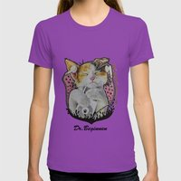 Drawing By Reeve Wong Womens Fitted Tee Ultraviolet SMALL