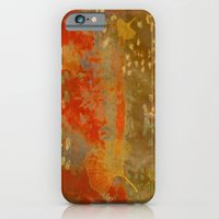 Ginkgo Leaves on Rust Background iPhone 6 Slim Case