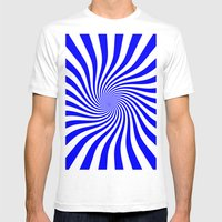 Swirl (Blue/White) Mens Fitted Tee White SMALL