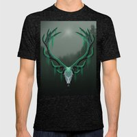 Wild Horns Mens Fitted Tee Tri-Black SMALL