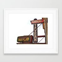Framed Art Print featuring Airport tavern sign by Vorona Photography