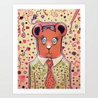Bear Collaboration (Pink) Art Print
