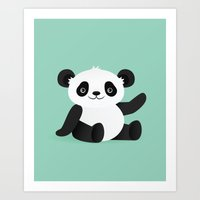 Happy Panda Art Print
