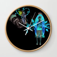 Alice Wonders Wall Clock