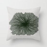 Jellyfish Flower B Throw Pillow
