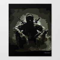 Call Of Duty Camo Canvas Print