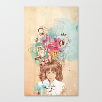Thinking Canvas Print