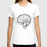 Brain Womens Fitted Tee White SMALL