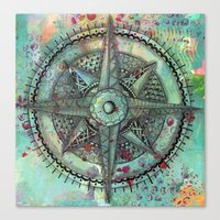 Compass Rose Zentangle Z… Canvas Print