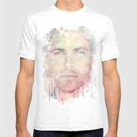 PAUL WALKER R.I.P Mens Fitted Tee White SMALL